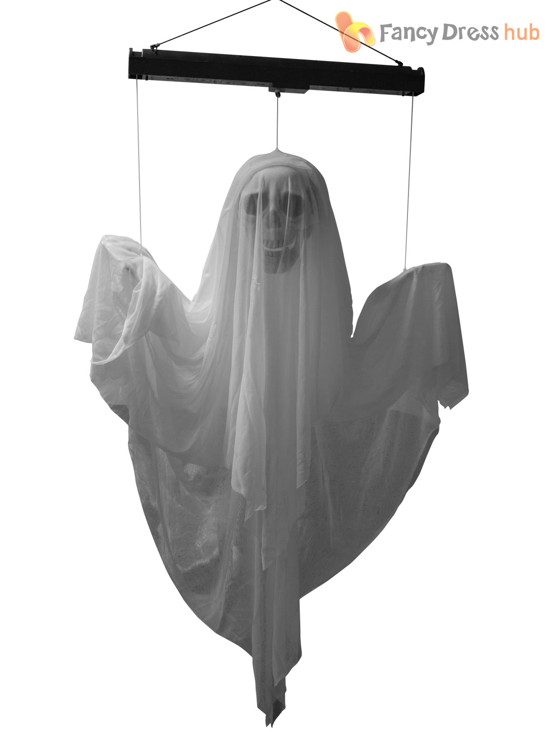 Animated floating ghost prop light up sound halloween for Animated floating ghost decoration