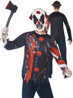 Boy's Teen Sinister Creepy Clown Costume