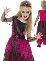 Girl's Deluxe Gothic Prom Queen Costume