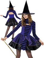 Girl's Teen Stripe Dark Fairy Costume