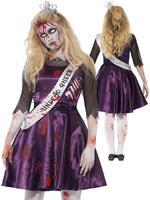 Girl's Teen Zombie Prom Queen Costume