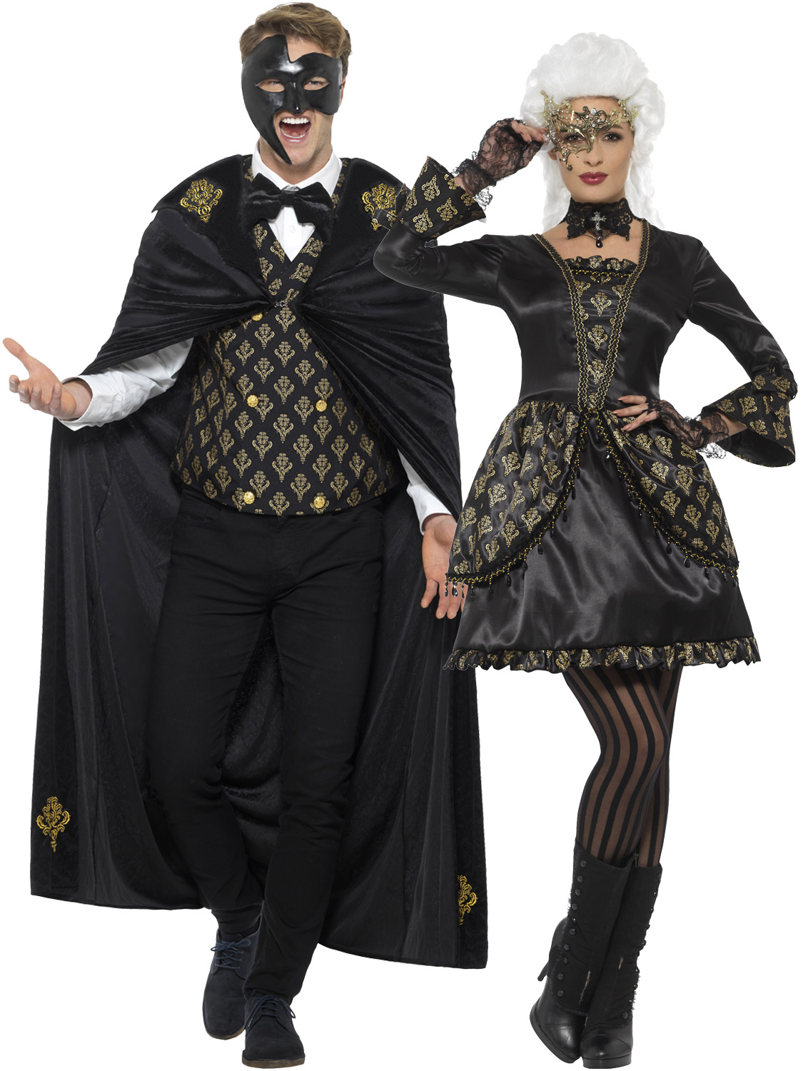 Adult Deluxe Masquerade Costume Mens Ladies Venezia Halloween Fancy Dress Outfit | eBay