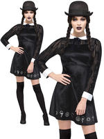 Ladies Fever Deluxe Gothic School Girl Costume