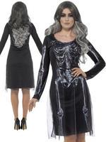 Ladies Lady Skeleton Costume