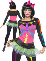 Ladies Neon Skeleton Costume