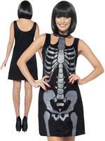 Ladies Skeleton Shift Dress