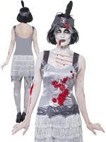 Ladies Zombie Flapper Dress Costume