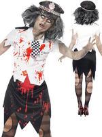Ladies Zombie Policewoman Costume