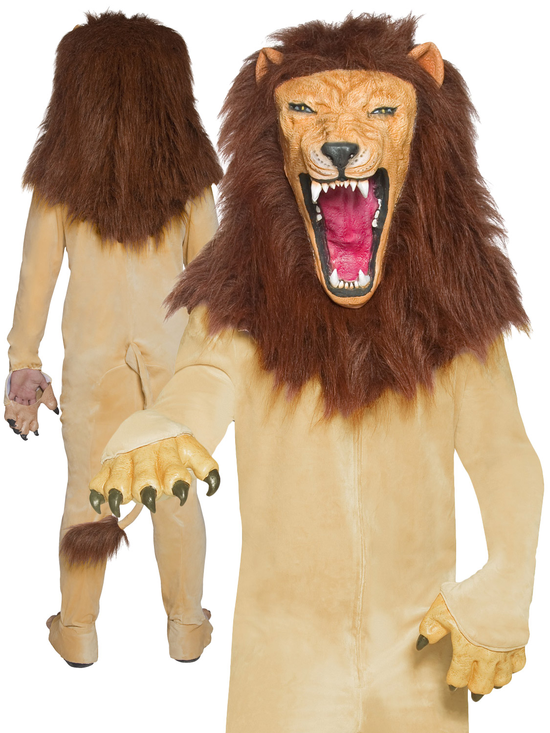 Men's Cirque Sinister Vicious Circus Lion Costume | All ...