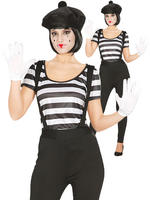 Ladies Mime Artist Costume