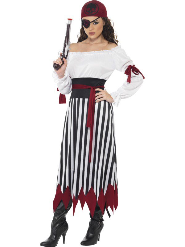 Ladies-Pirates-Fancy-Dress-Costume-Caribbean-Pirate-Lady-Womens-Outfit