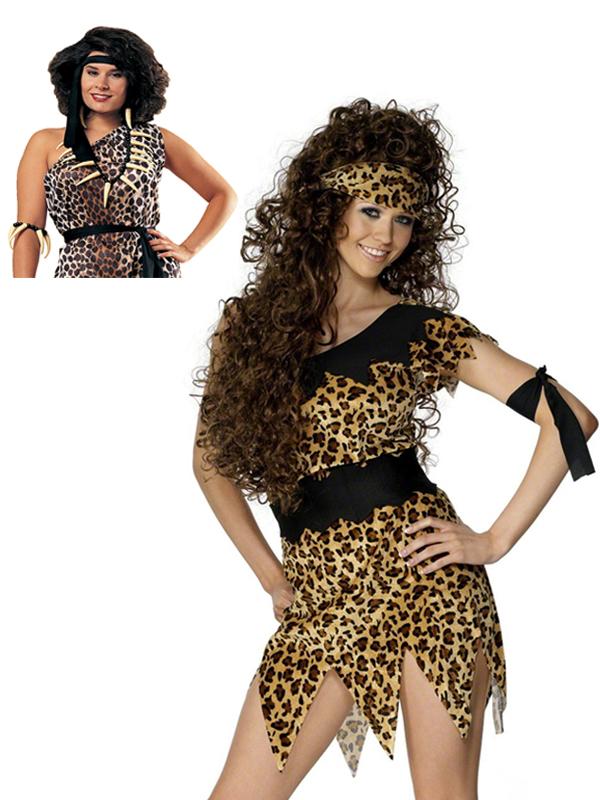 cave costume fancy dress caveman leopard print
