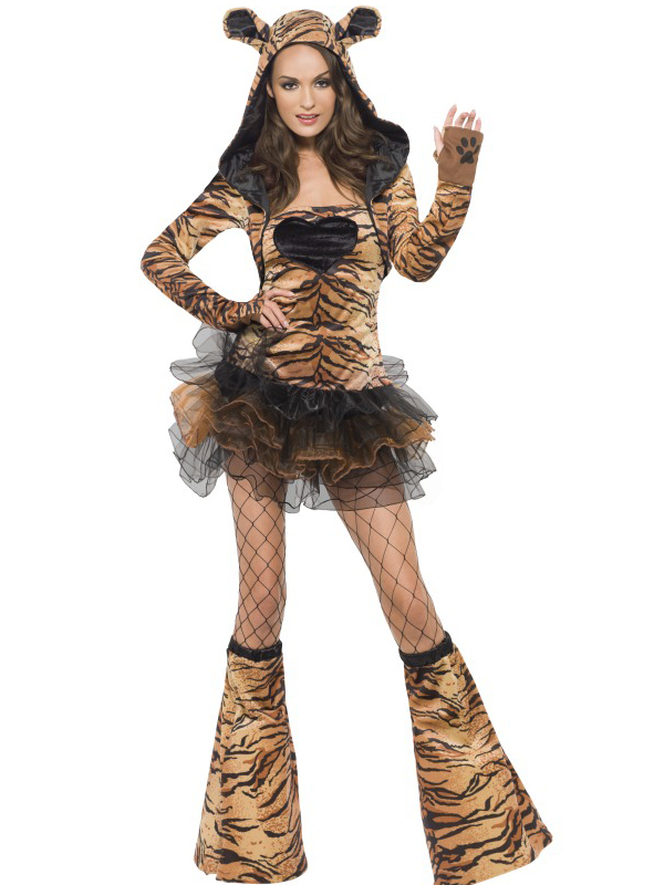 Ladies-Fever-Sexy-Animal-Fancy-Dress-Costumes-Womens-Hen-Party-Outfit-Jungle-Zoo