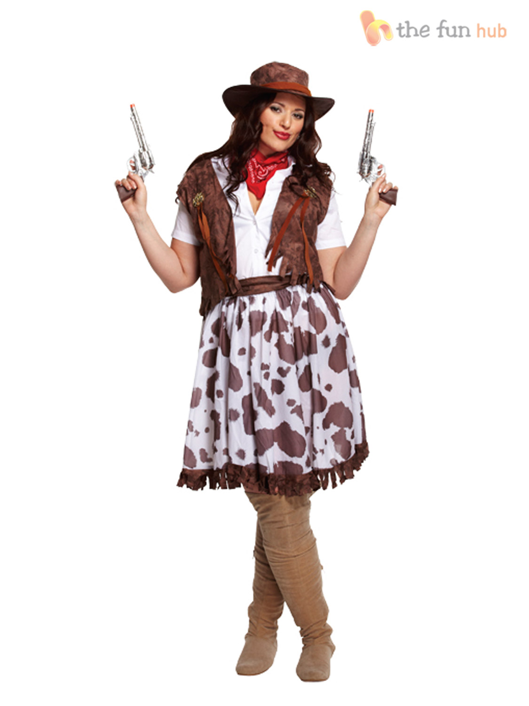 costume de cowgirl cow girl d guisement femme far west western grande taille ebay. Black Bedroom Furniture Sets. Home Design Ideas