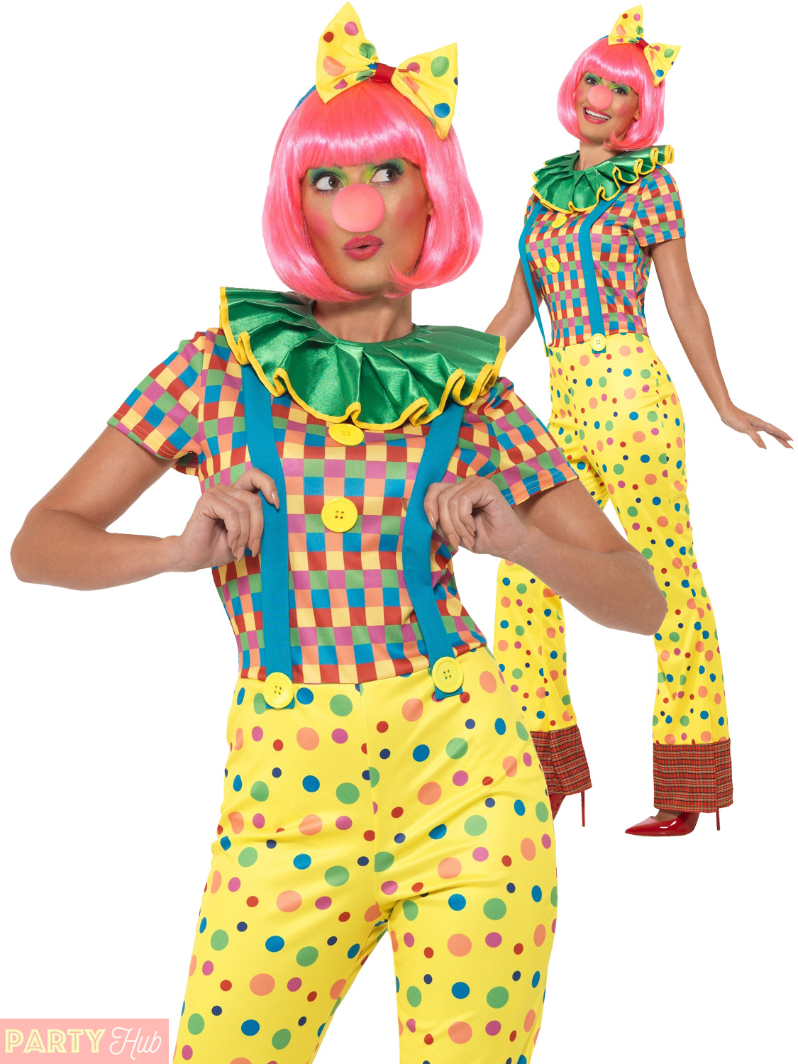 Ladies Giggles The Clown Costume Adults Circus Fancy Dress Womens Outfit