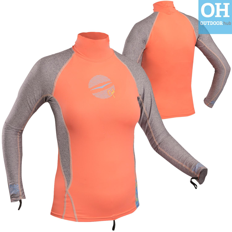 Gul Swami Ladies Long Sleeve Rash Guard Vest Wetsuit Top Womens UV Girls Teen