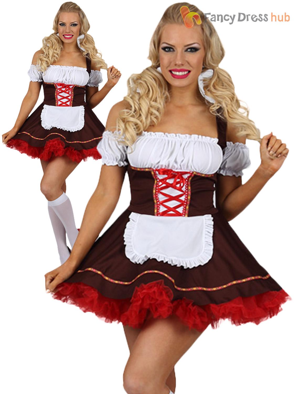 Femmes Bière Bavaroise Fille Costume Adulte Oktoberfest Déguisement Femme Costume