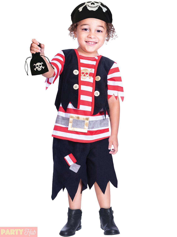 Boys Shipmate Pirate Costume Childs Buccaneer Fancy Dress Kids Book Week Day