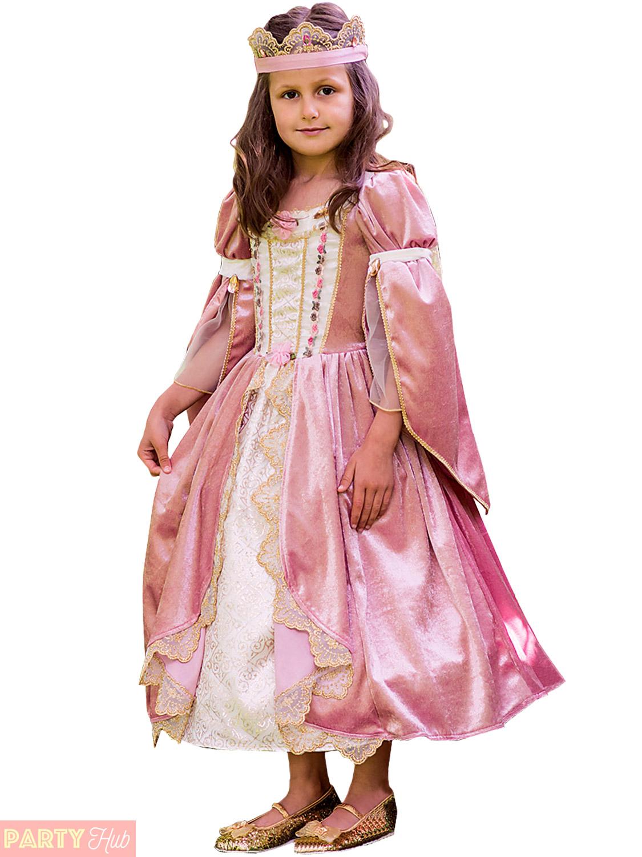 Filles Princesse Royale déguisement enfant médiéval conte de fées Déguisement Enfants Tenue