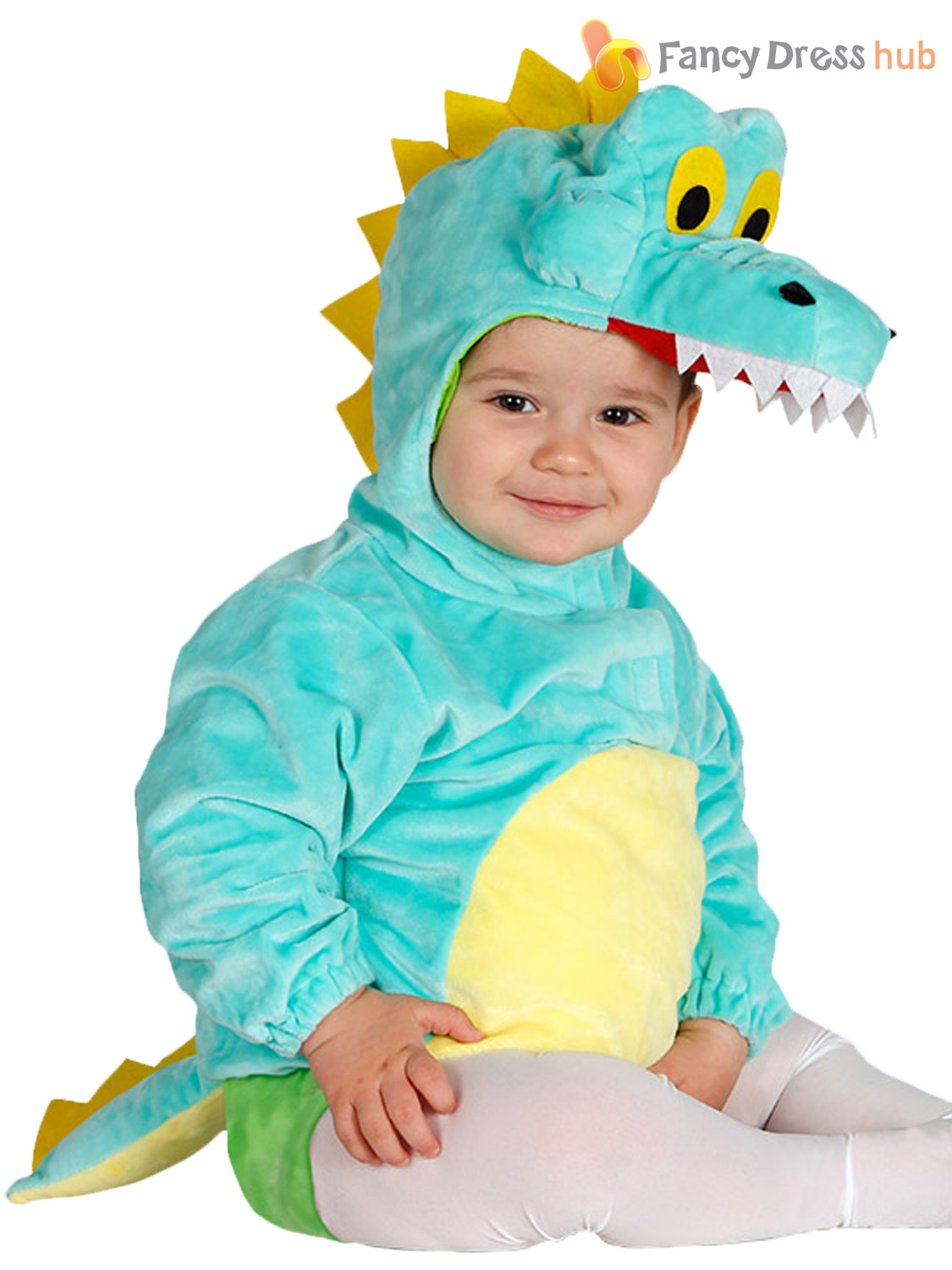 Baby Toddler Blue Crocodile Costume Boys Animal Zoo Jungle Fancy Dress Outfit