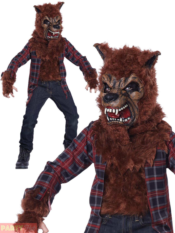 Bambino Costume Di Halloween Lupo Mannaro Ragazzi Luna di Sangue Costume Bambini Animali Vestito