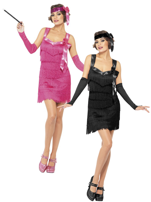 Sexy flapper ladies 20s fancy dress womens 1920s great gatsby adults