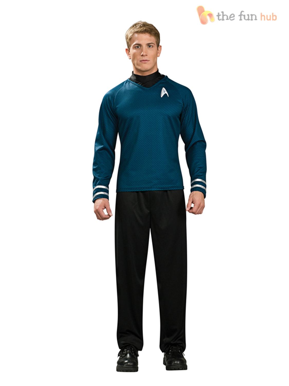 Star-Trek-Licensed-Adult-Scotty-Kirk-Spock-Fancy-Dress-Costume-Startrek-Shirt