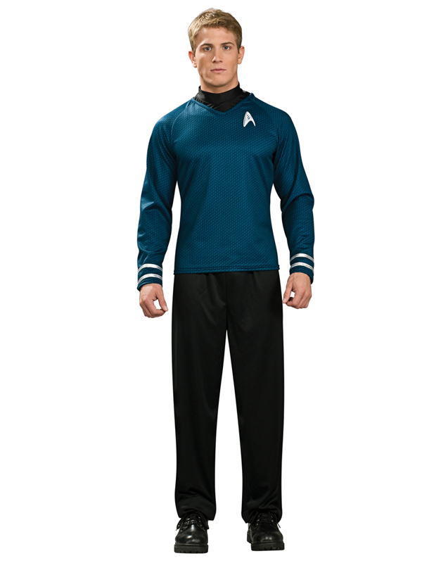 Star-Trek-Licensed-Adult-Scotty-Kirk-Spock-Startrek-Shirt-Fancy-Dress-Costume