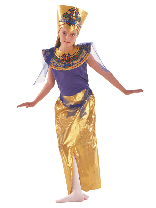 Girls-Egyptian-Queen-Cleopatra-Fancy-Dress-Costume-Child-Book-Week-Outfit