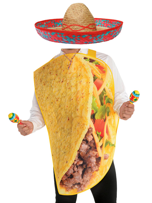 Sombrero Hat Mens Ladies Spanish Fiesta Funny Fast Food Adults Taco Costume