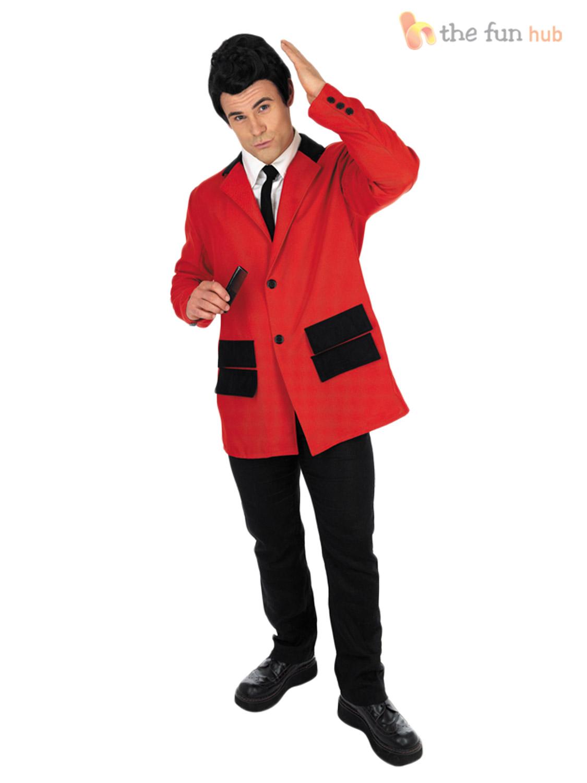Adult Teddy Boy Costume 50s Rock n Roll Fancy Dress Mens Buddy Holly Fancy Dress   eBay