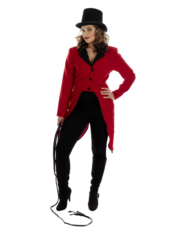 Details about ladies ringmaster fancy dress costume circus ring master