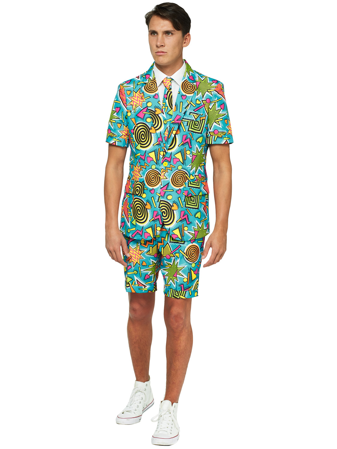 Mens Suitmeister Suit Fancy Dress Stag Do Tropical Festival Hawaiian Costume