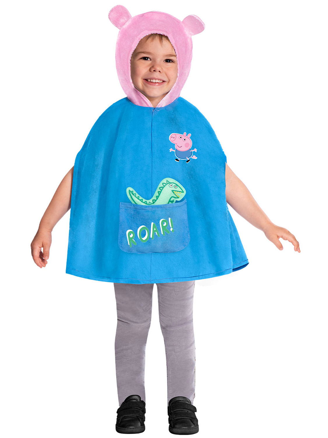 Peppa Pig George Costume Girls Boys Kids Fancy Dress Outfit Book Week Day Child