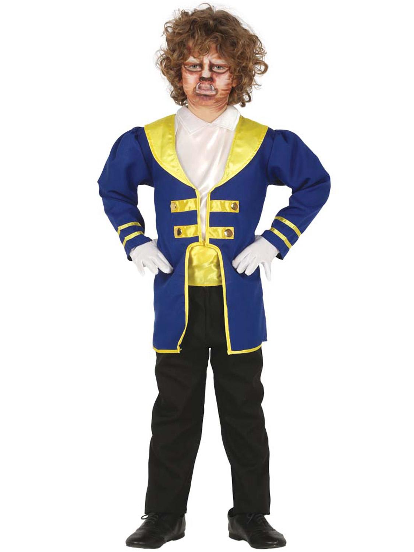 Boys Prince Beast Beauty Costume Fancy Dress Book Week Film Fairytale Outit