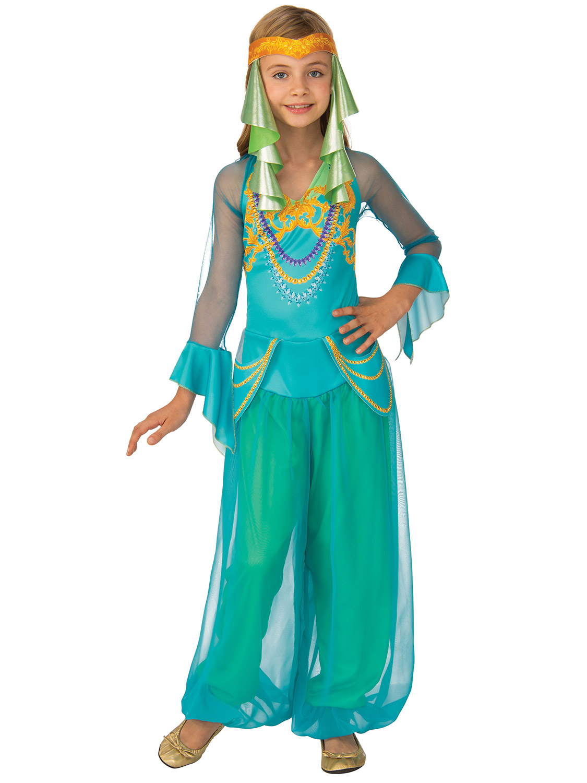 Girls Arabian Nights Princess Fancy Dress Costume Kid Jasmine Child Belly Dancer