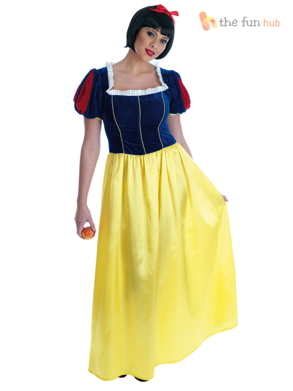 Adult-Ladies-Snow-White-Fairytale-Princess-Womens-Fancy-Dress-Costume-Plus-Size