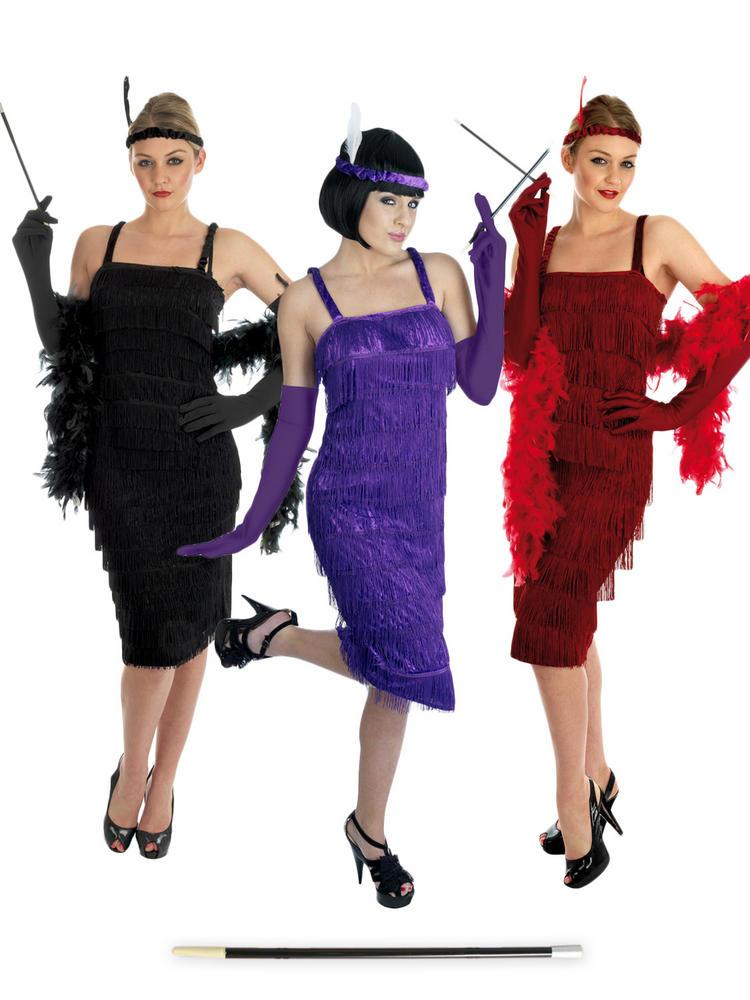 Ladies Flapped Dress & Cigarette Holder