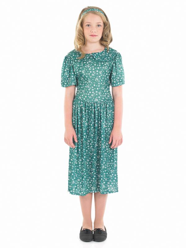 Evacuee-Girl-Fancy-Dress-1940s-WW2-Costume-Kids-Matilda-Roald-Dahl-Book-Week-Day