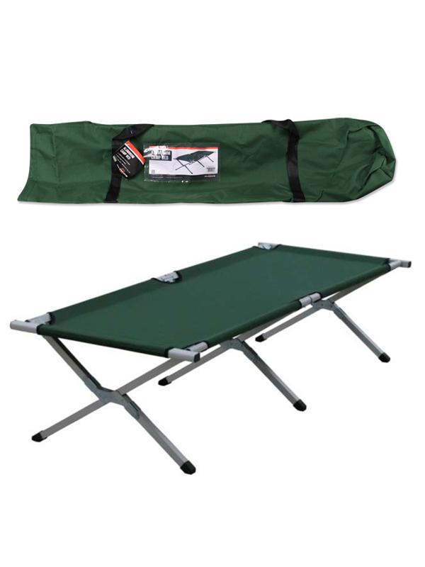 Milestone heavy duty super light green folding camp camping bed aluminium frame ebay - Camif bed frame ...