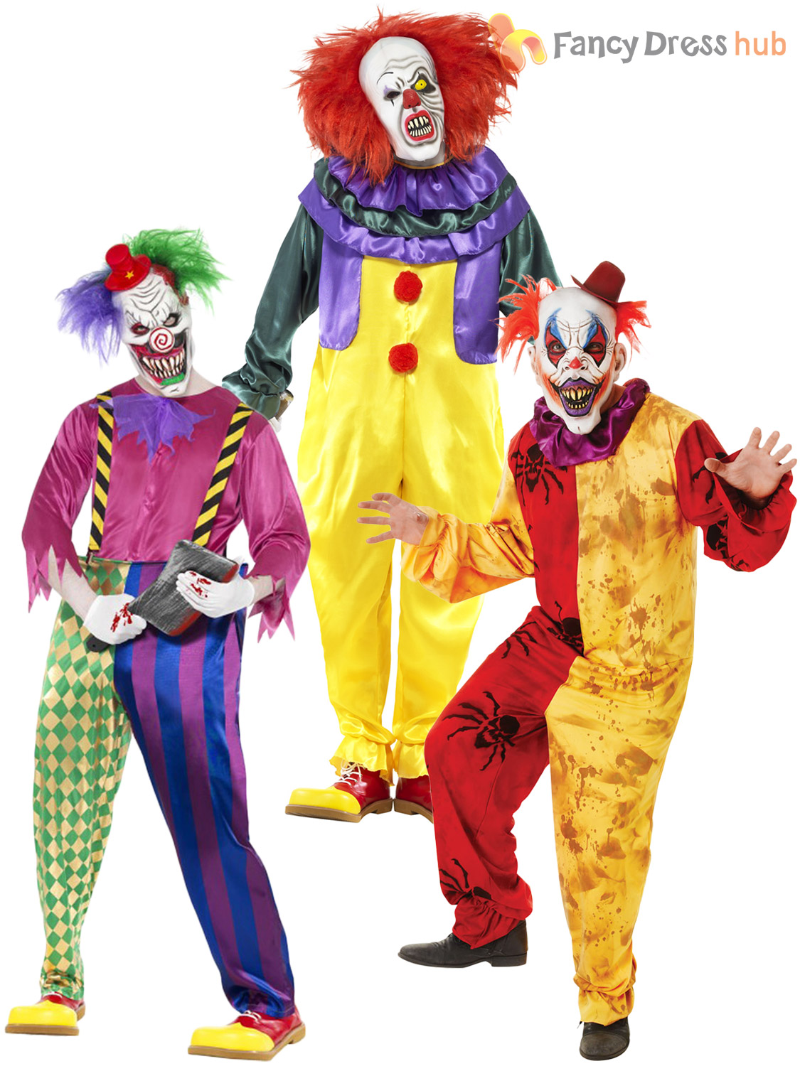 >Scary Clown Fancy dress Costumes available and on Sale in Hertfordshire