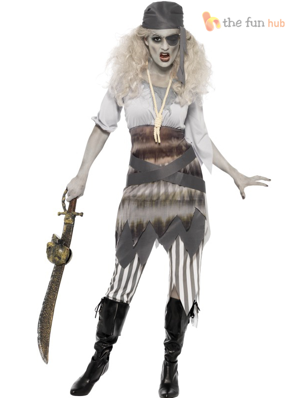 ladies zombie pirate costume ghost ship womens halloween - Pirate Halloween Costume For Women