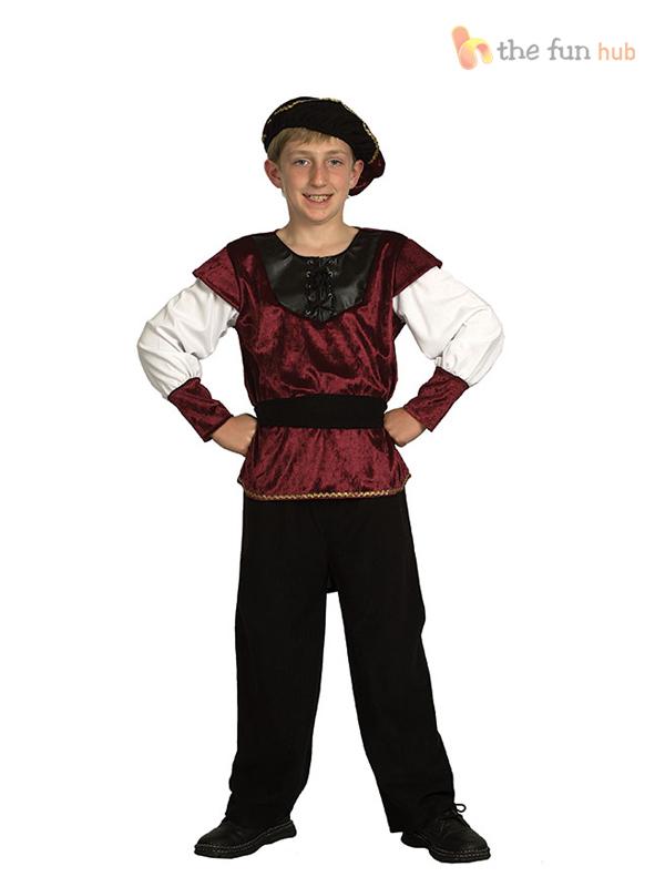 Renaissance-Prince-Costume-Kids-Fancy-Dress-Boys-Tudor-Medieval-School-Book-Week