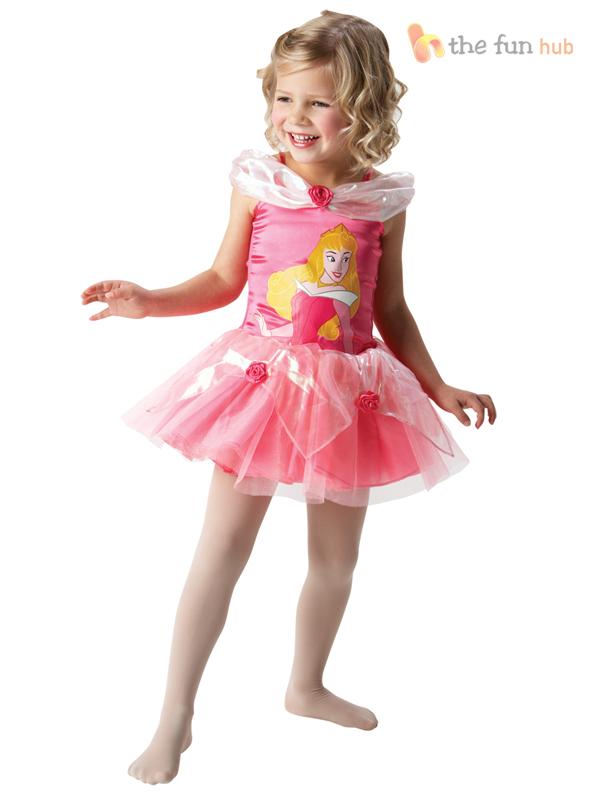 Disney Princess Ballerina Tutu Girls Fancy Dress Costume