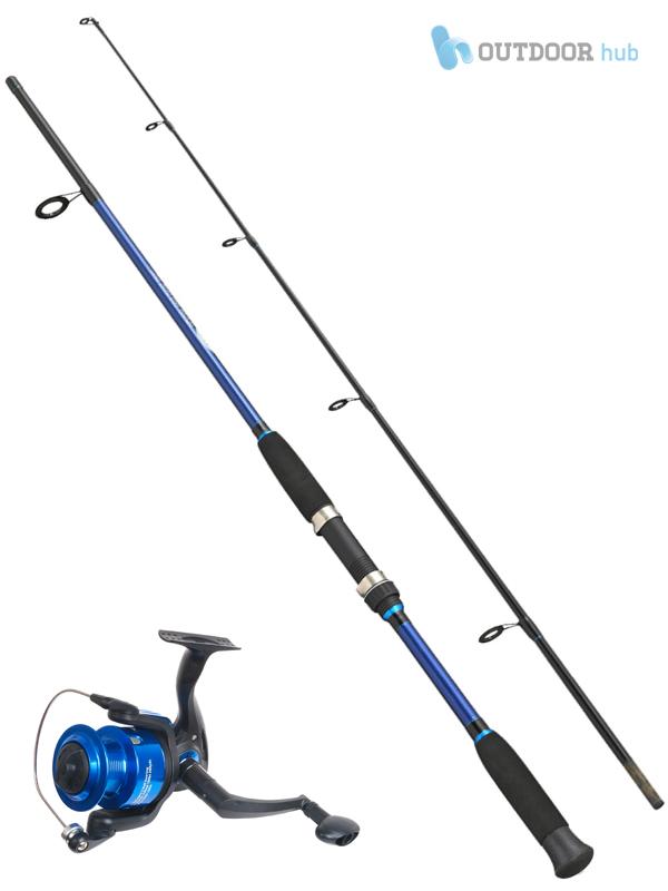 Fladen xtc blue 9ft 2 pcs fishing rod xtc 3bb 40 reel for Blue fishing rod