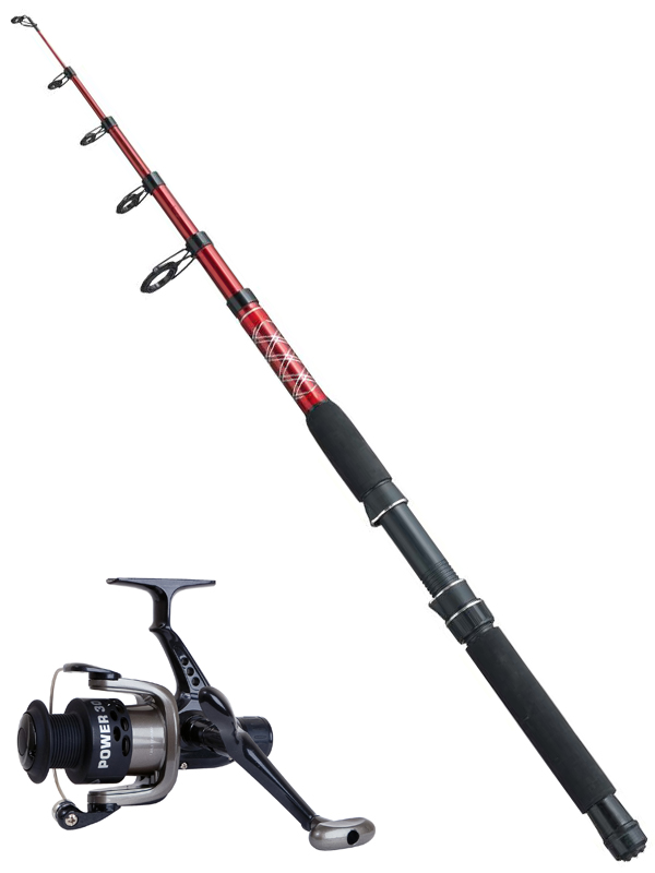 Fladen redstick 8ft telescopic fishing rod or power reel for Power pole fishing