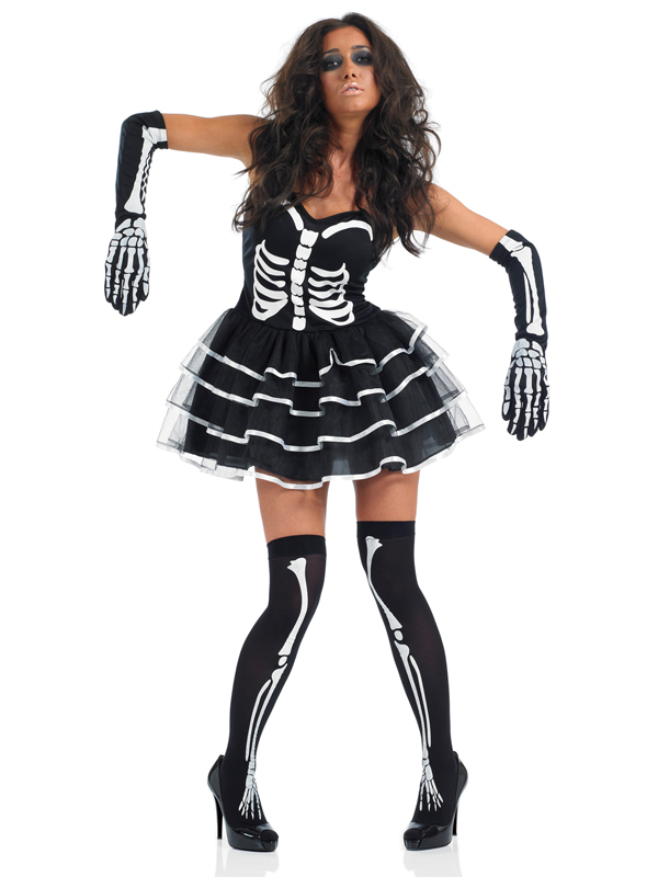 Party City Skeleton Gloves