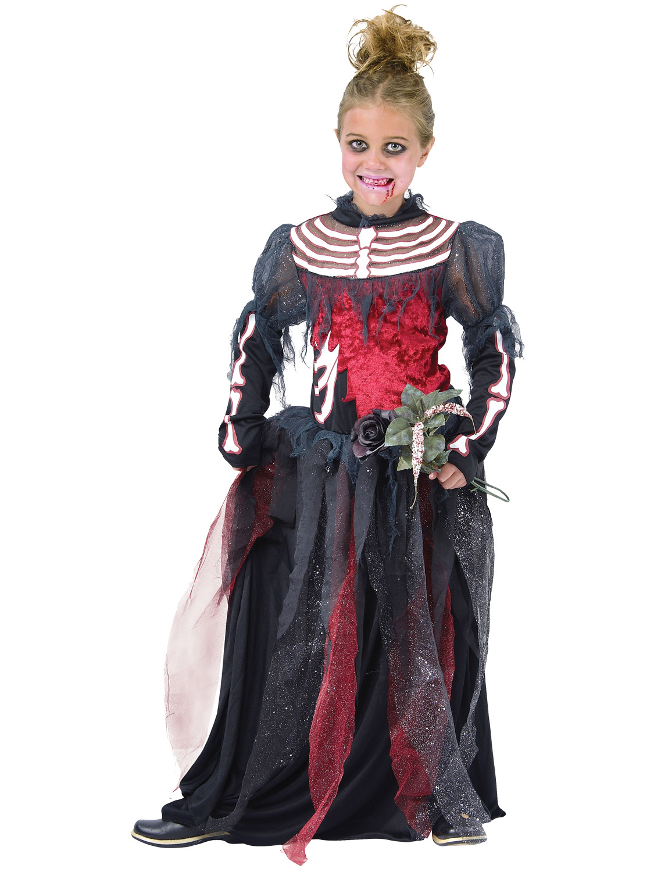 Girls Ghost Zombie Corpse Bride Fancy Dress Up Halloween Book Week ...
