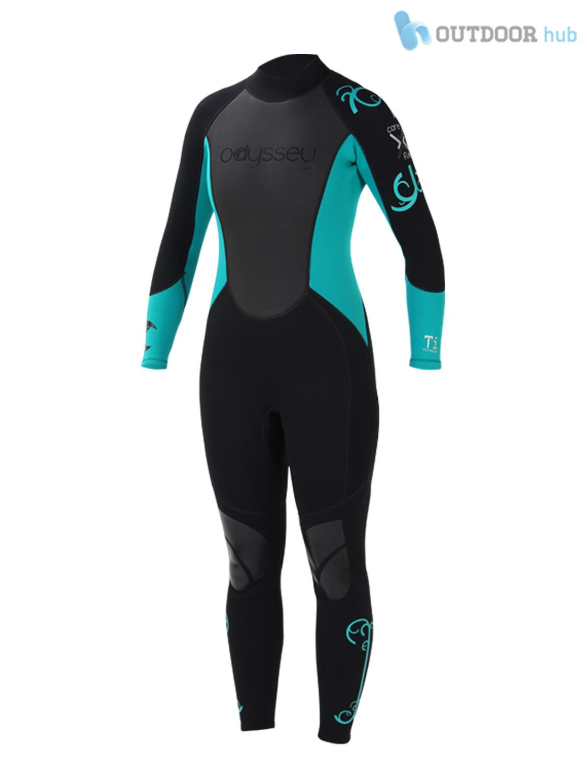 Odyssey 3mm ladies women 39 s wetsuit wet suit full steamer titanium swim surf xs l ebay for Children s swimming pool wetsuit