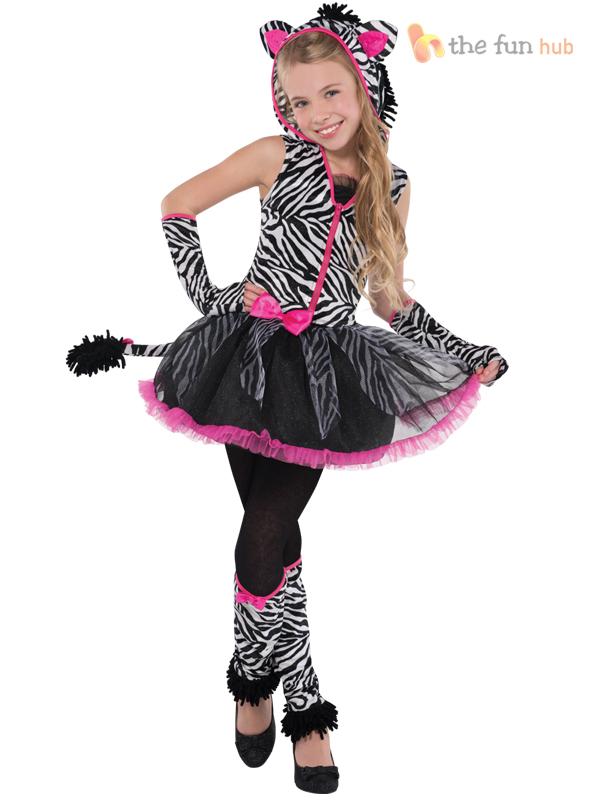 age 8 16 girls teen sassy stripes cat - Girls Teen Halloween Costumes